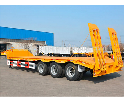 FACTORY sales 30 Tons low bed semi trailer dimensions