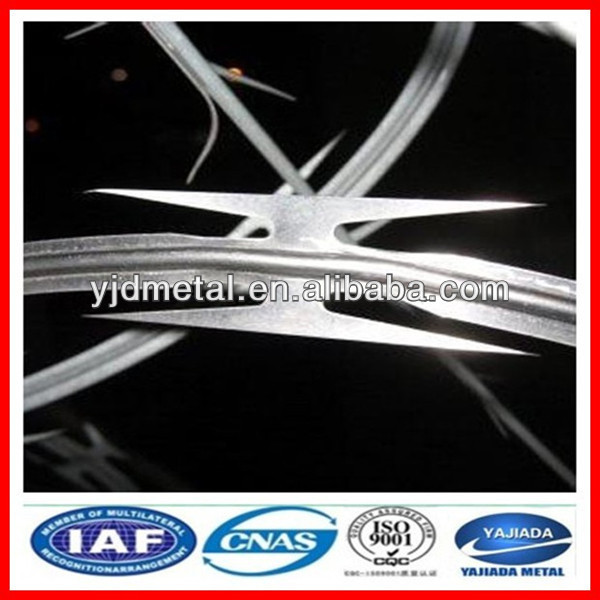 durable PVC coated razor wire / galvanized razor wire with low price