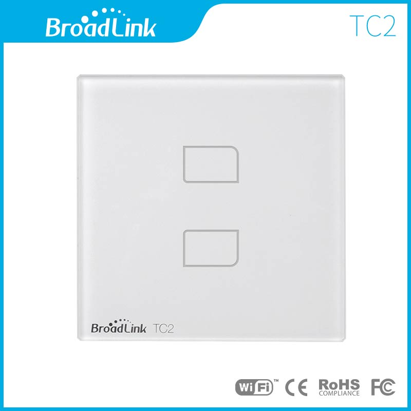 Broadlink TC2 gang 2 way EU/US/UK Standard 220 volts remote control on off touch screen switch