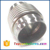Vibrant stainless steel bellow assembly exhaust pipe connector