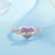 Wholesale 925 Sterling Silver Rings Valentine Gift Jewelry Love Heart Cz Ring