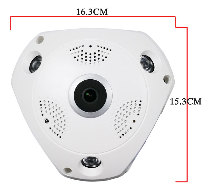 support TF/SD card two-way voice intercom 360 degree wide view angle cam 5MP H.265 panoramic camera