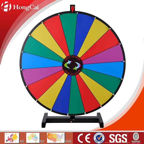 "30"" Dry Erase Tabletop Prize Wheel, Promotional Spinning Game Wheel of Fortune"
