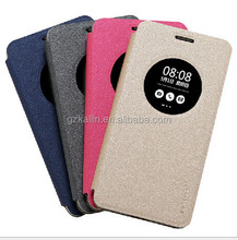 funky luxury high quality real leather cell phone cases for asus zenfone