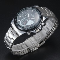 alloy metal band japan pc21 quartz movement brand V6 japan movt wrist watch