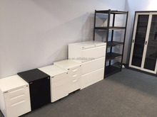 Office furniture under desk steel small 3 drawer wicker base storage moving cabinet