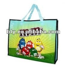 m&m PP Woven Fashionable tote Bag