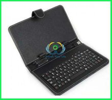 8 inch for Android tablet pc USB keyboard with leather case