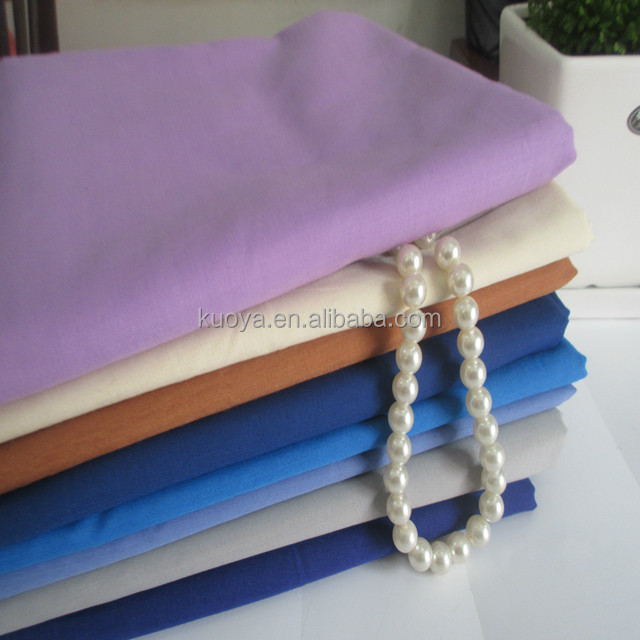 "polyester cotton clothing pocket lining fabric 45x45 96x72 58/60"" dyed / bleached polyester textile"