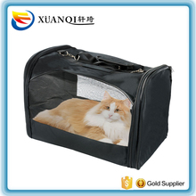 Folding Portable Small Pet Dog Cat Carrier Mesh Fabric Canvas Travel Bag