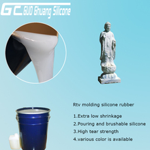 RTV-2 cheap silicone rubber for relief sculpture mold making with high duplication times