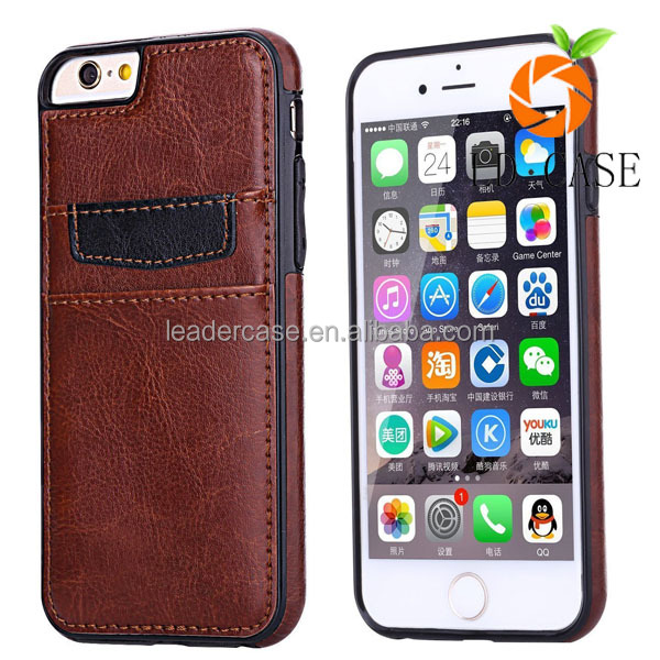 OEM Wholesale PC+TPU Case Leather Skin Cover Cell Accessory phone case for iphone 7/7 plus