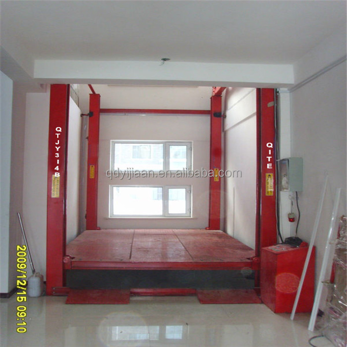 diy service 8m portable hydraulic four pillars electric car lift for basement parking