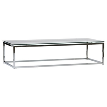 Stainless steel tempered glass modern coffee table
