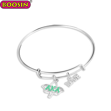 New style expandable aka charm love bangle wire bracelets bangles women