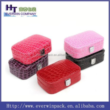 New fashion and Factory Price jewelry case and box, 100 gift jewelry case, case trolley case with jewelry