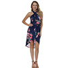 Wholesale Printing Cross Hang Neck Sexy Latest Woman Fashion Dresses