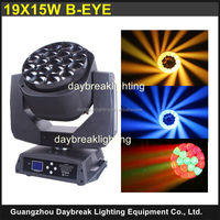led wash moving head light zoom 19 * 15w b-eye dj new moving head disco new hot product