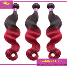 Cheap factory new product red human hair color 99j hair weave red braiding hair