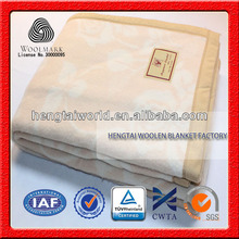 NO.1 China blanket factory Jacquard woven ,textile household wool blanket