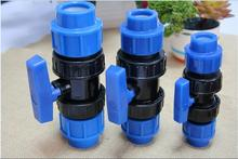 PP Compression Fittings Female Single Union Ball Valve