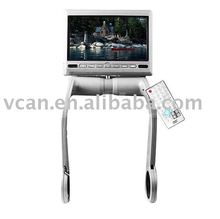 7 inch TFT LCD Armrest Monitor With Built In DVD Player