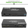 Voxlink 4Kx2K HDMI Splitter with Audio Extractor1X2 converter Eu/US/UK/AU/PSE type optional