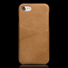 Guangzhou Cell Phone Accessory Genuine Leather Hard Back Case for Iphone 7 Slim Fit Protective Cover Snap On Case for Iphone 7