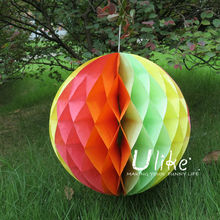 white party decoration ball wedding flying paper lantern