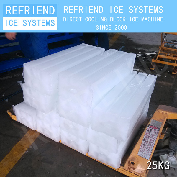 3T Direct Cooling Aluminium Evaporator Block Ice Maker Machine