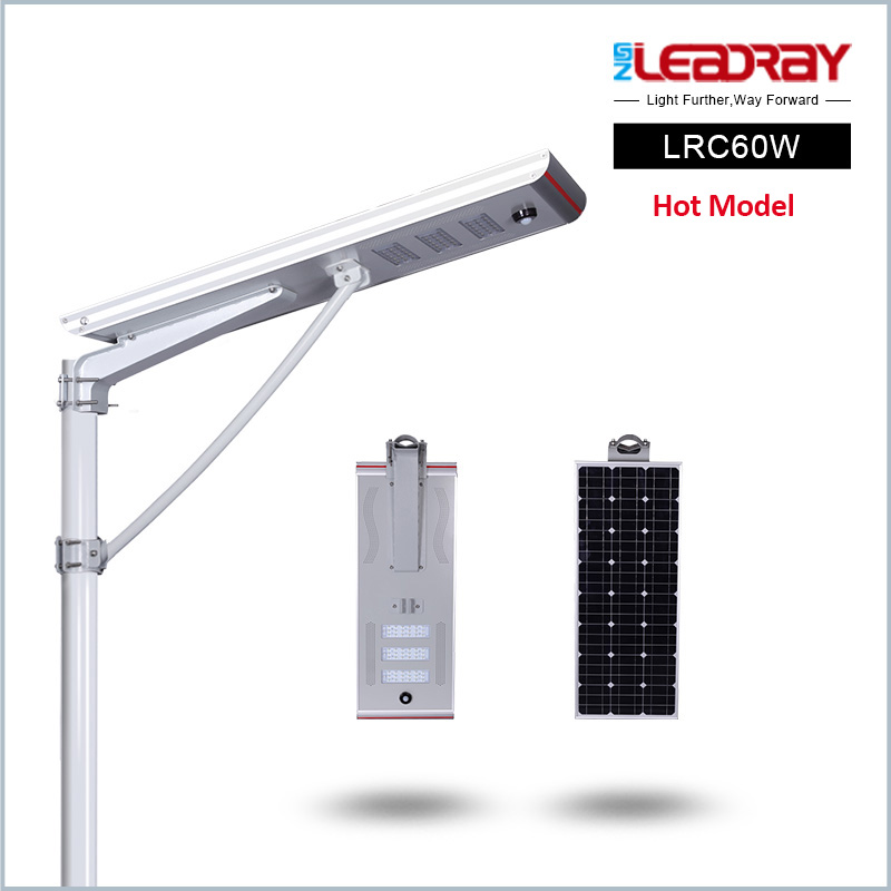Manufacturer price list waterproof 12v dc 50w 60w with pole led solar street light