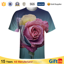 New year gift 100 polyester t shirts crew neck Cheap Custom Brand Printed with aztec print t-shirts