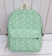 Small green flowers fresh garden canvas bag handbag shoulder bag