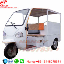 Made In China Kavaki Original Factory Quality Motorized Semi Closed Cabin Passenger Tricycle Bajaj Tuk Tuk For Sales