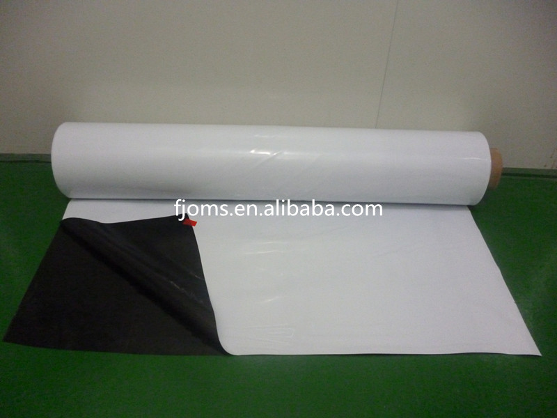 Black And White PE Protective Film To Mulch Aluminum Extrusive Profile