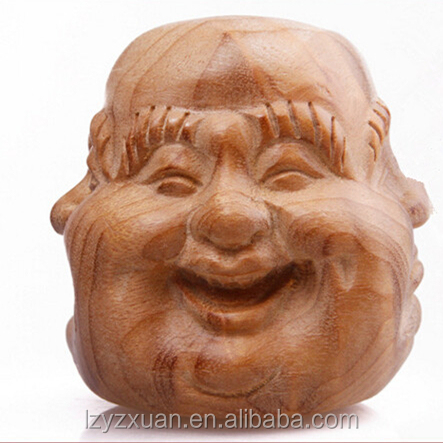 Authentic Nanmu Budbha's smile face used as Christmas gift or decoration