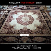 Wine red hand knotted pure silk carpet handmade rugs india