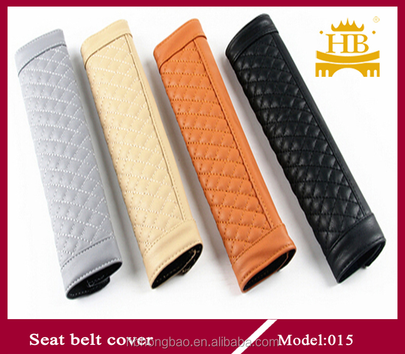 PU car seat belt cover with lowest price