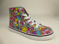 Colorful girls canvas shoe fashion vulcanized style
