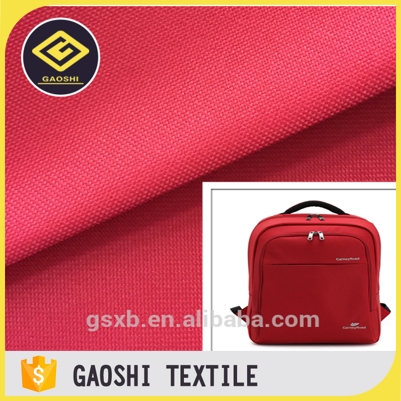 100% Polyester 600 Denier Waterproof Backpack Luggage Material Fabric