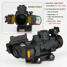 GZ1-0105 4x32 dual ill. Tactical compact infrared rifle scope with fiber optic sight sniper riflescope