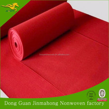 Fashion Red Nonwoven polyeste Needle Punched Exhibition Carpet