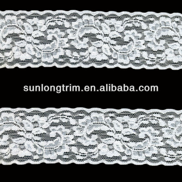 6cm wide elastic stretched lace ribbon for headband