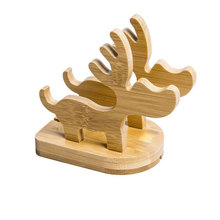 elegant wooden craft of stand deer for phone holder wholesalers