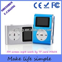 Hot Selling Free Download Mini Clip FM Mp3 Player With Mirco SD Card Slots