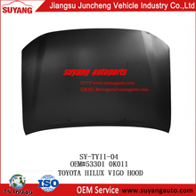 Hot Selling Iron Engine Hood for Toyota Hilux Vigo Double Cabin suyang auto aftermarket body parts suppliers by Asia