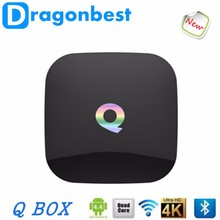 Q BOX 2GB/16GB Amlogic S905 Mali-450 Android 5.1 Smart TV BOX Dual WIFI Mini PC