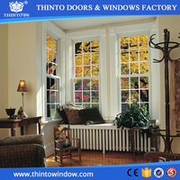 Excellent Water Resistance double hung aluminum sliding glass reception window