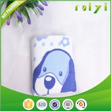 100% cotton print high quality health face towel with dog