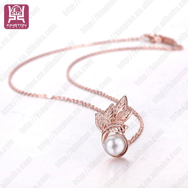 Branches pearl fashion stainless steel necklaces